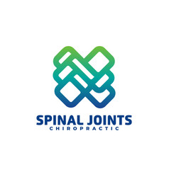 logo spinal joints gradient colorful style vector image