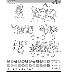 Mathematical coloring game vector