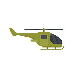 Military helicopter icon flat style vector