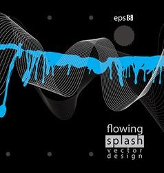 Modern inky wallpaper eps8 flowing lines ephemeral vector