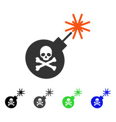 Mortal bomb flat icon vector