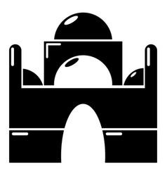 mosque icon simple black style vector image