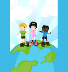multi ethnic children vector image
