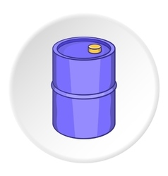 Oil barrel icon cartoon style vector