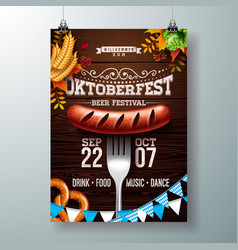 Oktoberfest poster with typography vector