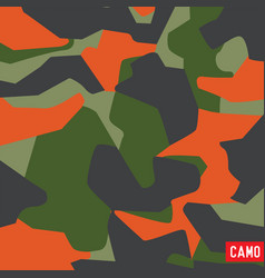 Pattern camo army soldier abstract vector