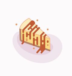 piece delicious cheesecake vector image