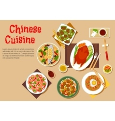 Popular dishes of chinese cuisine icon flat style vector