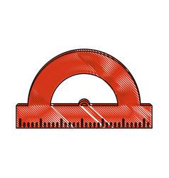 school protractor tool vector image