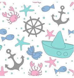 sea stories object pattern vector image