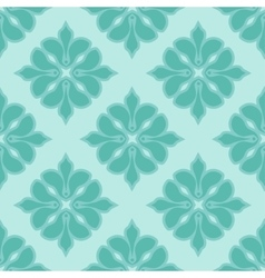 Seamless damask pattern in blue colors vector image