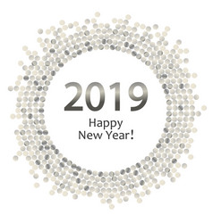 silver dots circle 2019 vector image