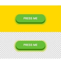 Simple green button vector image