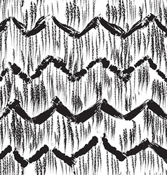 Sketchy hand drawn abstract seamless pattern vector image