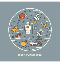 Space exploration vector