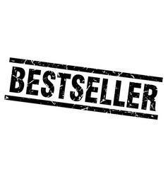 square grunge black bestseller stamp vector image