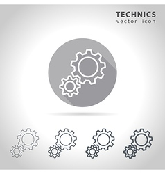 Technical outline icon vector