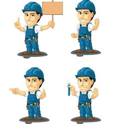 Technician or Repairman Mascot 9 vector image
