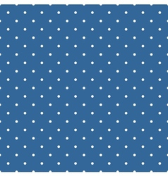 Tile pattern with polka dots on blue background vector