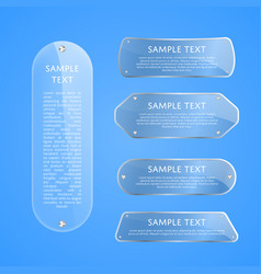 transparent glass plates with space for text vector image