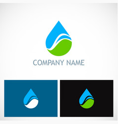 water drop bio ecology company logo vector image