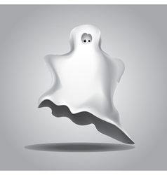 White halloween ghost vector