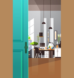 workplace cabinet empty no people apartment vector image