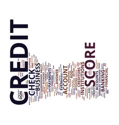 Z check credit score text background word cloud vector