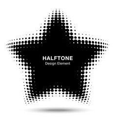 convex abstract halftone distorted star frame vector image vector image