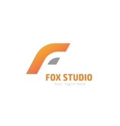 Fox or lion abstract face logo template vector image