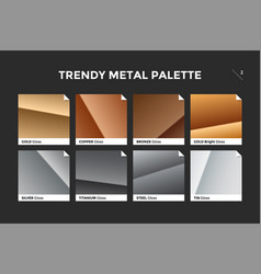gold copper bronze and silver gradient template vector image