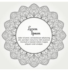 Mandala with text vector image vector image