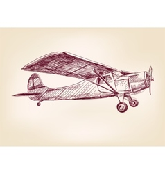 plane hand drawn llustration realistic sketch vector image