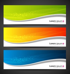 Banner modern wave design vector