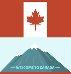 canada country flag symbol maple leaf canadian vector image
