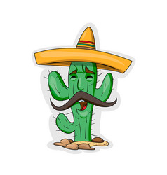 cartoon cactus character vector image