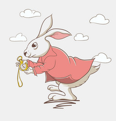 hare from wonderland vector image