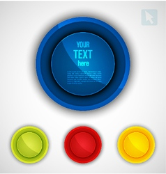 Round colorful icons set vector image