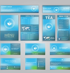Set of corporate identity vector image vector image