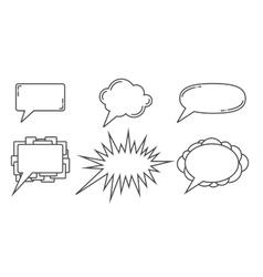 Speech bubbles examples vector image