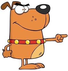 Brown Angry Dog vector image vector image