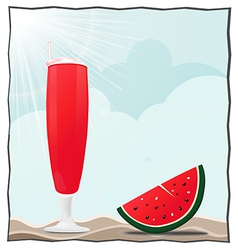 cocktails and fruits vector image