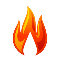 fire flame 3d red icon vector image