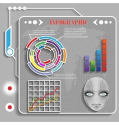 grey futuristic infographics vector image vector image