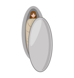 jesus christ in the grave - via crucis vector image