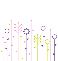 Simple abstract spring flowers design vector image vector image