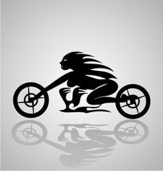 Tribal Motorcycle Girl vector image