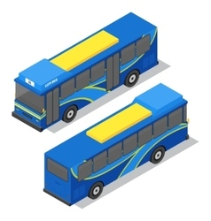 City Bus Isometric View vector image vector image