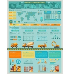 Construction Infographics Set vector image vector image