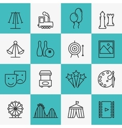 Fun and entertainment icons vector image vector image